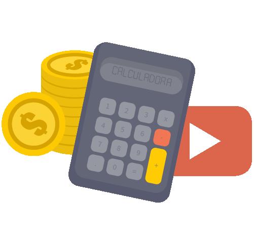calculadora sobre vender videos ou youtube